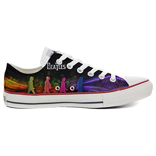 Converse All Star Chaussures coutume mixte adulte (produit artisanal) Slim The Beatles