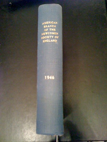 American Branch of the Newcomen Society 1946