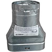 MetalFab 4MOR - B-vent Adapter Double Wall Flue Oval To Round 4