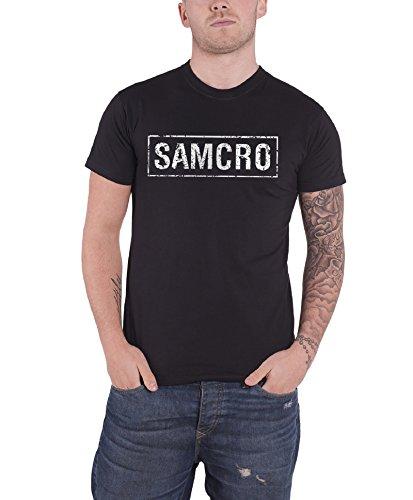 Sons Of Anarchy Banner Reaper Show Samcro T Shirt SOA Crew Mens Black Tee Shirt