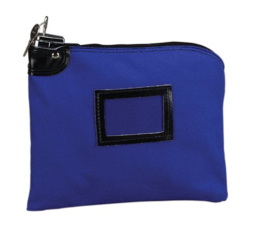 Securit Blue Night Deposit Bag with Pop-Up Lock, 9 x 12 Inch, Blue, 1 per Carton