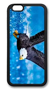 MOKSHOP Adorable Bald Eagle Flying Soft Case Protective Shell Cell Phone Cover For Apple Iphone 6 (4.7 Inch) - TPU Black