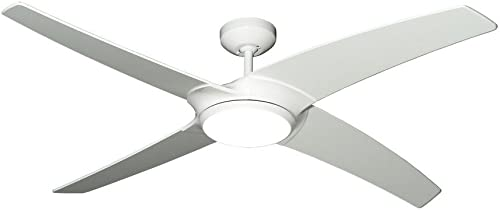 "TroposAir Starfire 56"" Pure White DC Ceiling Fan"