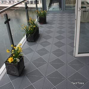 Piazza Balcony Floor Tiles Graphite Grey Amazon Ca