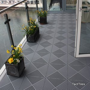 Piazza Balcony Floor Tiles Graphite Grey Amazoncouk