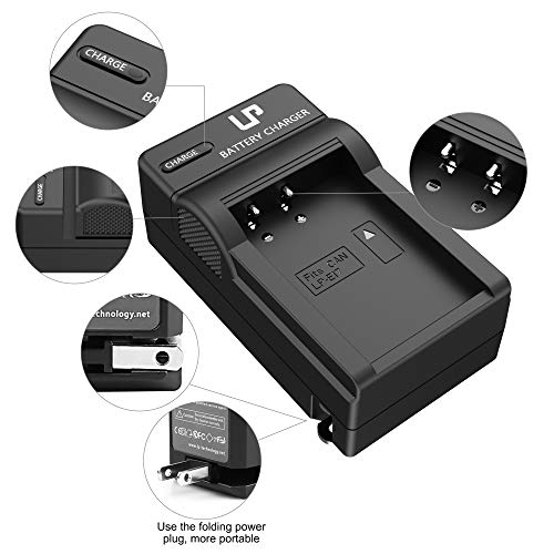 LP LP-E17 Battery Charger, Compatible with Canon EOS M3, M5, M6, 77D, 200D, 750D, 760D, 800D, 8000D, 9000D, Rebel T6s, T6i, T7i, SL2, SL3 &More