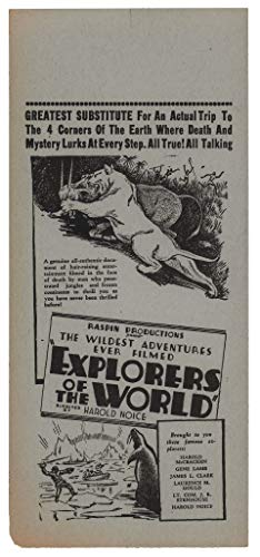 Explorers of the World 1931 U.S. Herald