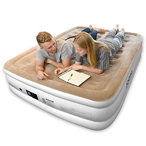 Joofo Air Mattress Queen,Breathability and Comfort Double