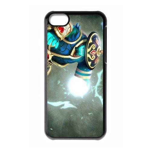 Storm Spirit coque iPhone 5c cellulaire cas coque de téléphone cas téléphone cellulaire noir couvercle EEECBCAAN02015