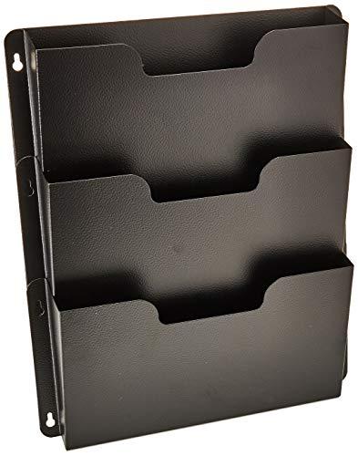Buddy Products Triple Wall Pocket, Steel, 2.5 x 17.5 x 14.5 Inches, Black (5210-4)