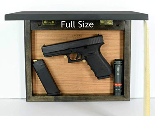 Hide a gun furniture, pistol storage spot, home defense accessory, wall mount firearm safe picture frame concealment organizer, dark back