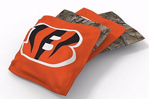 PROLINE 6x6 NFL Cincinnati Bengals Cornhole Bean Bags - Real Tree Design ()