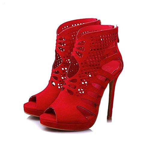 EU Red Donna Ballerine AdeeSu Rosso 35 6awxYtX1nq