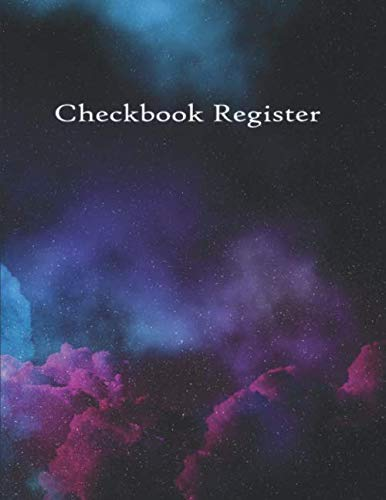 Check Register: Checkbook Checking Account Tracking Log Ledger for Personal or Business Checks and Debit Card Transactions Pretty Nebula Cover