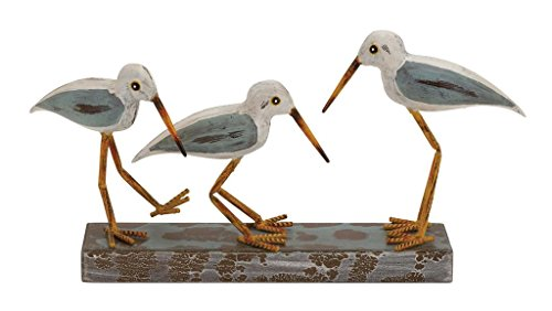 Cheap Deco 79 92658 Wood Metal 3-Birds on Stand, 20 10″, Multicolor