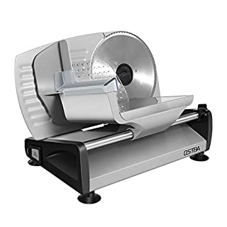 Meat Slicer Electric Deli Food Slicer with Child Lock Protection, Removable 7.5'' Stainless Steel Blade and Food Carriage, Adjustable Thickness Food Slicer Machine for Meat, Cheese, Bread(150W)