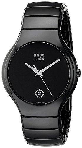 Rado Men's R27653722 True Jubile Analog Display Swiss Quartz Black Watch