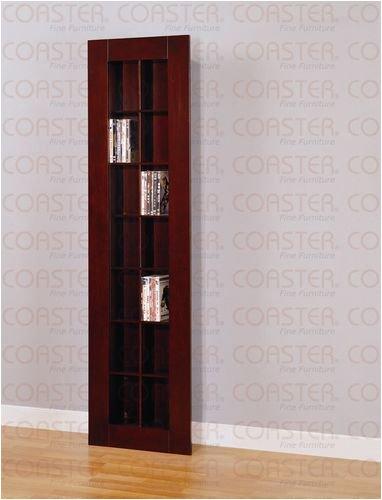 Contemporary Leaning Cappuccino Finish Wood CD/DVD Rack Shelf Bookcase & Amazon.com: Contemporary Leaning Cappuccino Finish Wood CD/DVD Rack ...