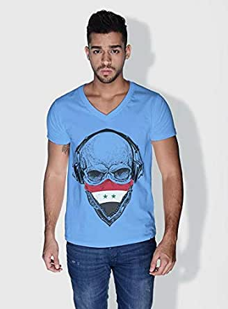 Creo Syria Skull T-Shirts For Men - Xl, Blue