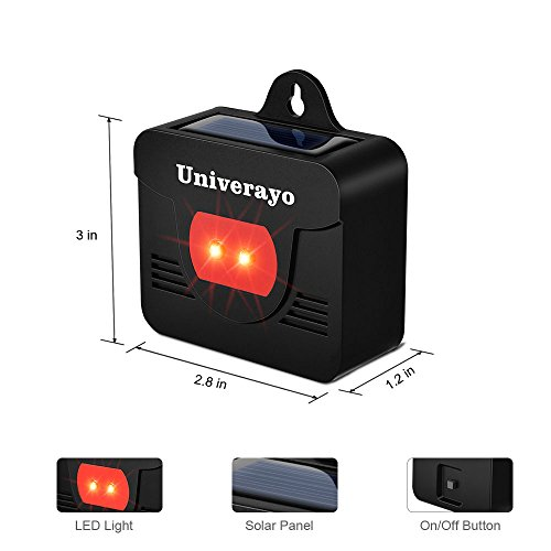 Univerayo Pack of 4 Deer Repellent Coyote Deterrent Solar Powered Predator Light Nocturnal Animal Deterants Predator Control Lights Fox Skunk Coyote Raccoon Repellent - Upgraded Version by Univerayo (Image #1)