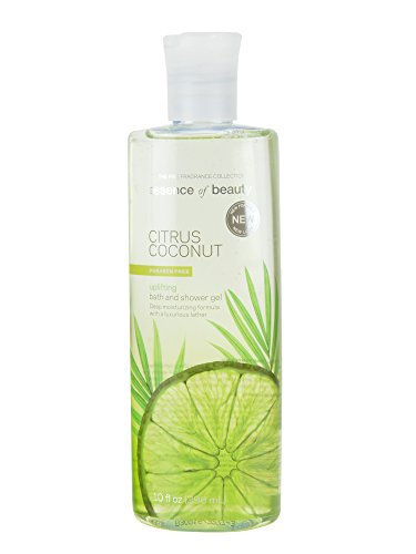 Essence of Beauty Bath and shower Gel, 10fl oz (296 ml) Deep Moisturizing formula with a luxurious lather (Citrus Coconut)