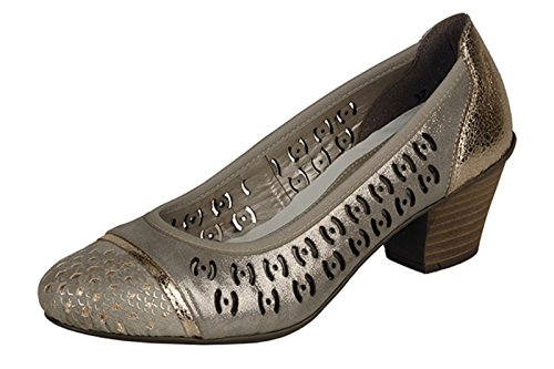 Rieker - Zapatos de vestir para mujer Beige