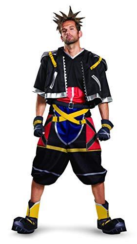 Kingdom Hearts Sora Halloween Cosplay (Disguise Men's Sora Deluxe Adult Costume, Black, XL)