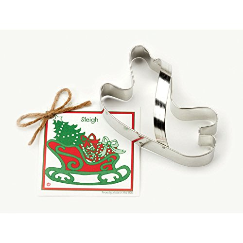 UPC 871458003420, Sleigh Cookie and Fondant Cutter - Ann Clark - 5.1 Inches - US Tin Plated Steel