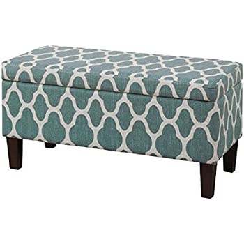 homepop large decorative storage ottoman navy blue kitchen dining. Black Bedroom Furniture Sets. Home Design Ideas
