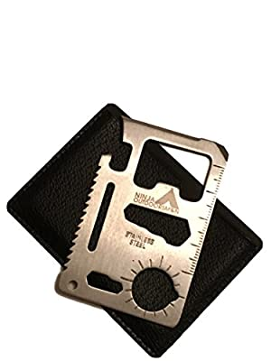 Ninja Outdoorsman 11 in 1 Stainless Steel Credit Card Pocket Sized Survival Multi tool from Ninja Outdoorsman