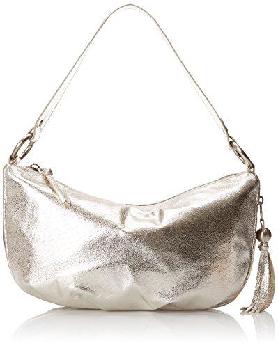 [HOBO Phoebe Shoulder Hobo Shoulder Bag, Metallic, One Size] (Hobo Purse)