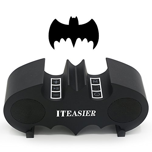 Bluetooth Speaker, Iteasier Wireless Batman Speaker with Dual-Driver, Super Bass, High-Definition Sound Qality, Two Subwoofers, 10hours Playtime for Cell Phone, Tablet, Computer etc(black)