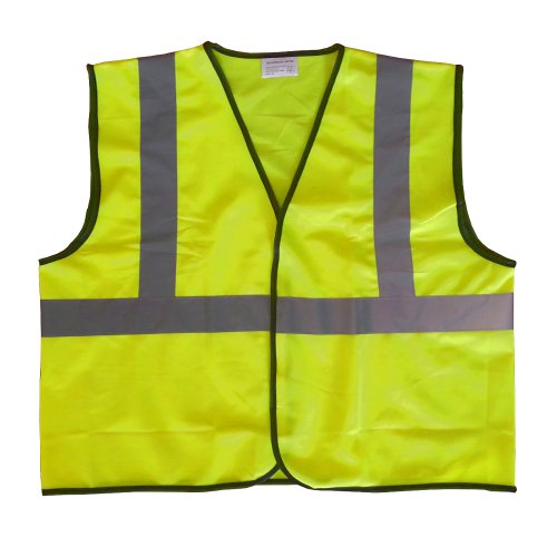 High Visibility Class II Safety Vest Lime Yellow (Medium)