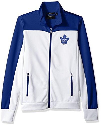 GIII For Her NHL Toronto Maple Leafs Women's Play Maker Track Jacket, Medium, White