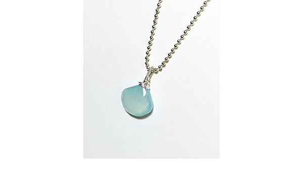Blue Pendant Blue Chalcedony Pendant Sterling Silver Blue Chalcedony Necklace Rose Cut Chalcedony Pendant Light Blue Pendant