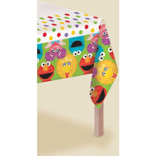 Amscan - Sesame Street 1st Plastic Tablecover - Standard by Amscan (Image #1)