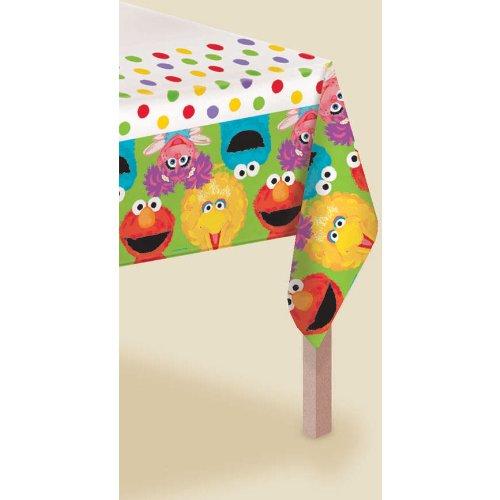 Amscan - Sesame Street 1st Plastic Tablecover - Standard (Plate Kids Cadabby Abby)