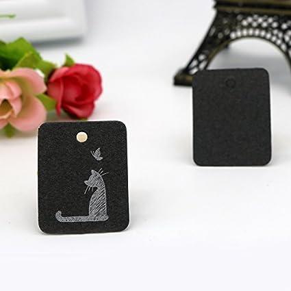 Luggage 2.6 * 3.3cm 2.6 x 3.3 cm Chaton Blanc Cat and Dandelion Design Doitsa 100pcs Rectangular Kraft Paper Labels Christmas Tags for Gift Wedding Shop Tags
