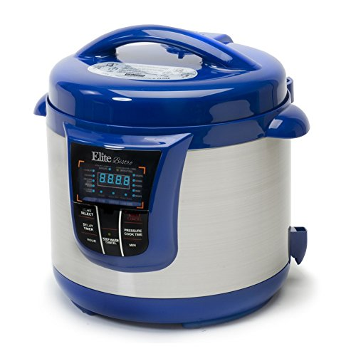 Bistro 8-Quart Electric Stainless Steel Pressure Cooker, Electric Pressure Cooker (Blue)