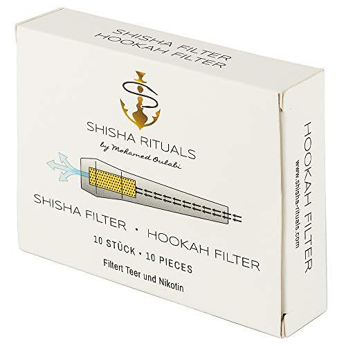 10 Shisha Filter | Shisha-Mundstück mit integriertem Filter aus Balsa-Holz, filtert Teer und Nikotin, natürliches…