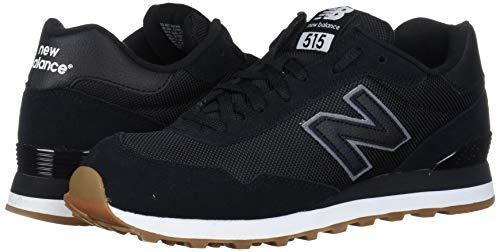 New Balance Men's 515 V1 Sneaker, Black/Off-White, 7 XW US