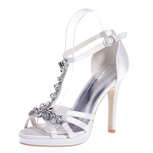 amp; Notte Donna Raso Outdoor Da 5915 L Tacchi Peep alti abbigliamento white 24 Party Toes In YC pTTqSO