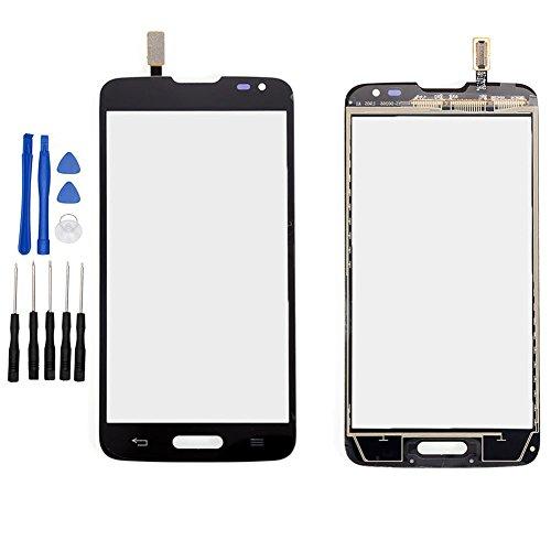 ixuan para LG Optimus L90D405D415Single Card pantalla táctil digitzer Cristal (sin LCD) piezas de repuesto Negro
