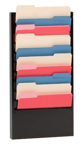 10 Pocket Literature Rack - Durham 406-08 Black Cold Rolled Steel 10 Large Pocket Forms Literature Rack, 13-1/4