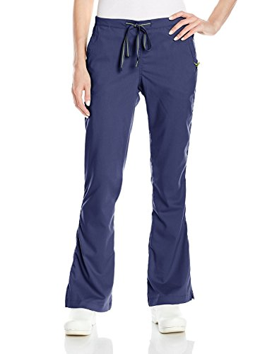 Ladies Flat Front Scrub Pants (Med Couture Vivi By Women's Sherry Flat Front Cargo Scrub Pant XX-Large Navy)