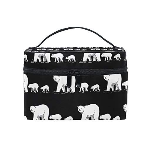 Makeup Bag Animal Polar Bear Family Pattern Cosmetic Portable Storage Bag -