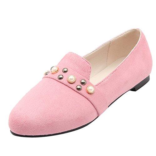 Charme Voet Dames Comfort Vintage Stijl Bezaaid Loafer Flats Roze