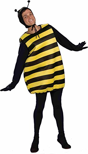 Forum Novelties Men's Honey Mooners Bee Costume, Black/Yellow, One Size -