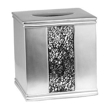 Popular Bath  Sinatra Silver  Tissue Box
