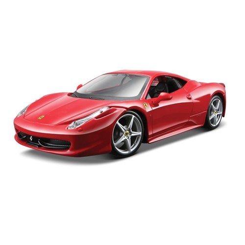 Model Cast Car Kits Die - Maisto 1:24 Scale Assembly Line Ferrari 458 Italia Diecast Model Kit (Colors May Vary)